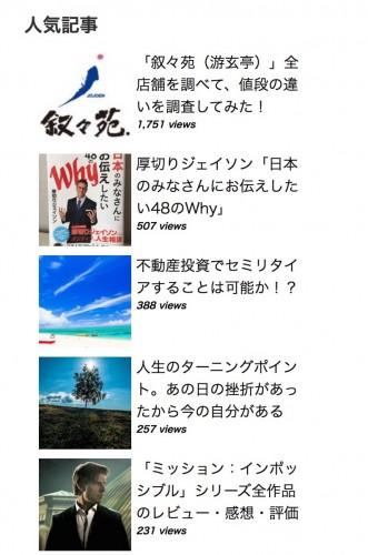 人気記事ランキング(3ヶ月間)