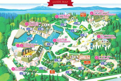オルゴールの森地図