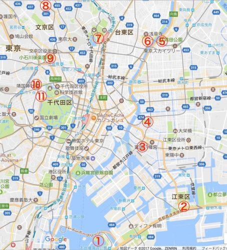 桜サイクリングマップ
